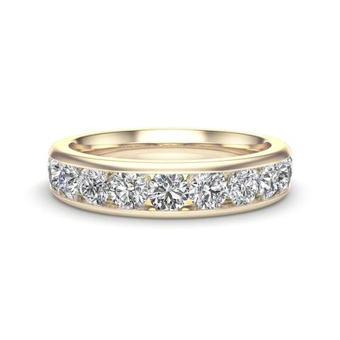 Noray Designs 14K Gold Diamond (1.10 Ct, G-H Color, I1-I2 Clarity) Channel Set Wedding Band