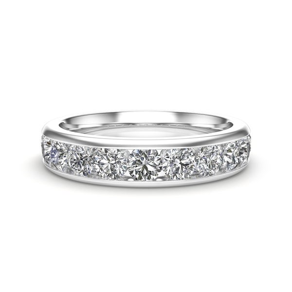 Noray Designs 14K Gold Diamond (1.10 Ct, G-H Color, I1-I2 Clarity) Channel Set Wedding Band. Opens flyout.