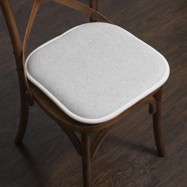Porch & Den Brassie Non-slip Memory Foam 16-inch Chair Pad Set