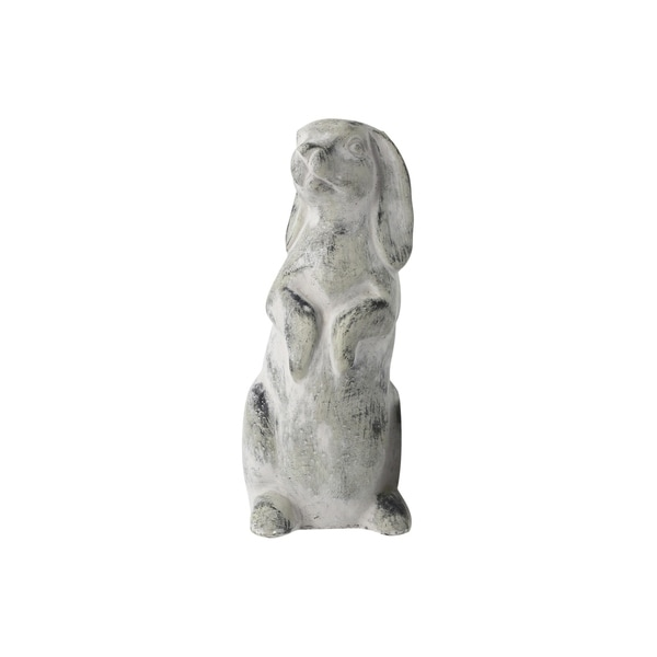 UTC35773: Cement Rabbit Statue Natural Finish Gray