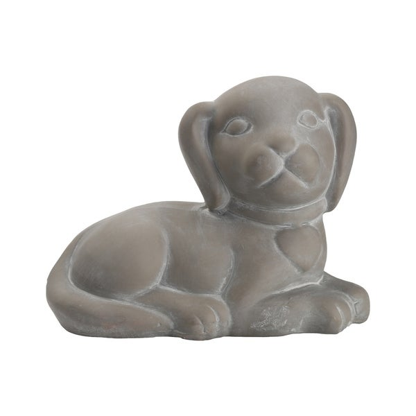 UTC28370 1pc Terracotta Lying Animal Figurine Facing Right Position