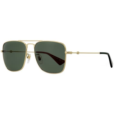 Gucci GG0108S 003 Mens Gold/Green/Red 55 mm Sunglasses