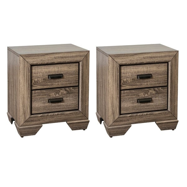 Home Source Westman 2-drawer Nightstand - Set of 2
