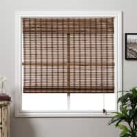Arlo Blinds Guinea Deep Bamboo Roman Shade with 98 Inch Height