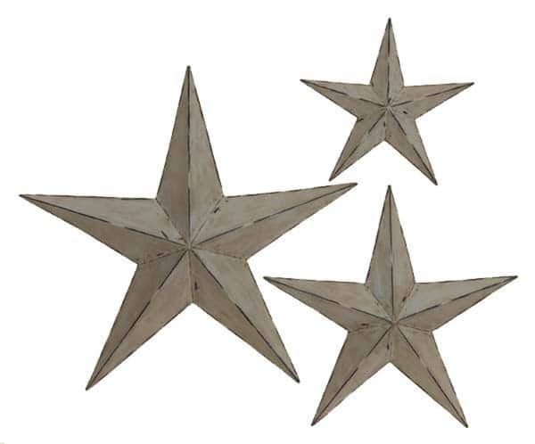 Handmade Rustic Metal Stars Set Of 3 Free Shipping