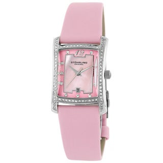 Stuhrling 'La Femme' Women's Mother of Pearl Watch