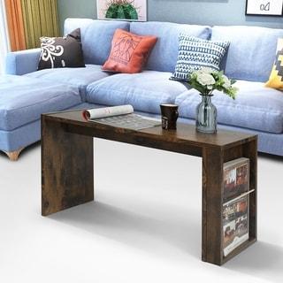 Carbon Loft Calmindon Rectangle Coffee Table C-shape Side Table