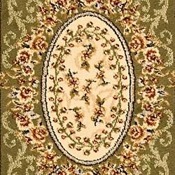 Safavieh Lyndhurst Traditional Oriental Sage/ Ivory Runner (2'3 x 14') - Thumbnail 2