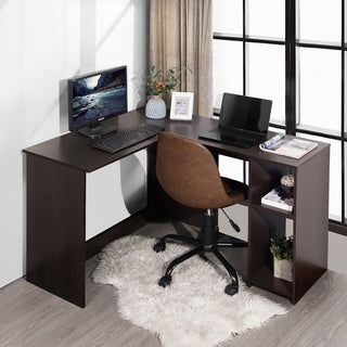Copper Grove Huissen L-shaped 2-shelf Home Office Desk