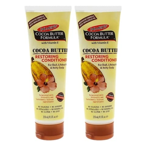 Cocoa Butter Restoring Conditioner by Palmers for Unisex - 8.5 oz Conditioner - Pack of 2