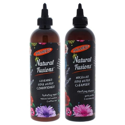 Natural Fusions Cleanser Micellar Rose Water by Palmers for Unisex - 12 oz Shampoo - Pack of 2