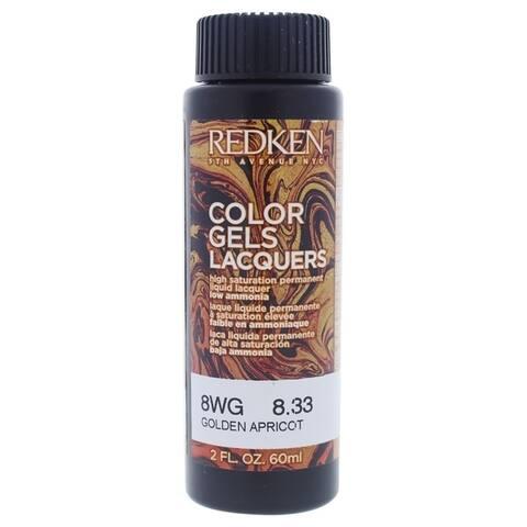 Color Gels Lacquers Haircolor - 8WG Golden Apricot by Redken for Unisex - 2 oz Hair Color