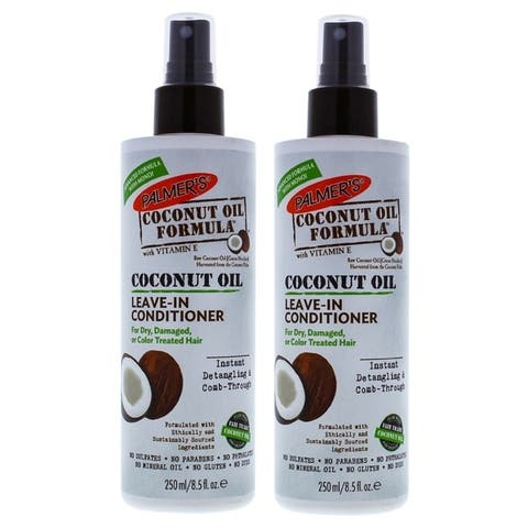 Coconut Oil Leave-In Conditioner by Palmers for Unisex - 8.5 oz Conditioner - Pack of 2