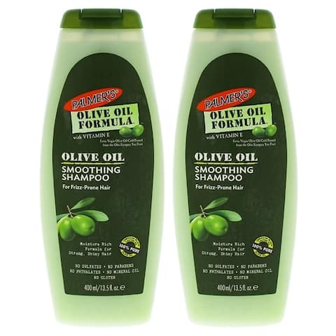 Olive Oil Smoothing Shampoo by Palmers for Unisex - 13.5 oz Shampoo - Pack of 2