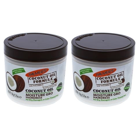 Coconut Oil Moisture Gro Hairdress by Palmers for Unisex - 5.25 oz Treatment - Pack of 2