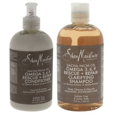 Sacha Inchi Oil Omega-3-6-9 Rescue and Repair Clarifying Shampoo Duo by Shea Moisture for Unisex - 1