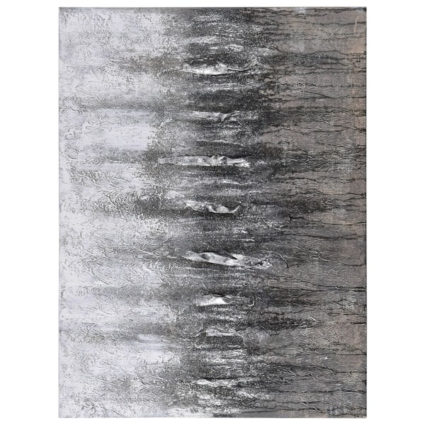 Shop Gray Frequency Abstract Textured Metallic Hand Painted