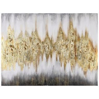Silver Orchid Textured Metallic Hand-painted Wall Art