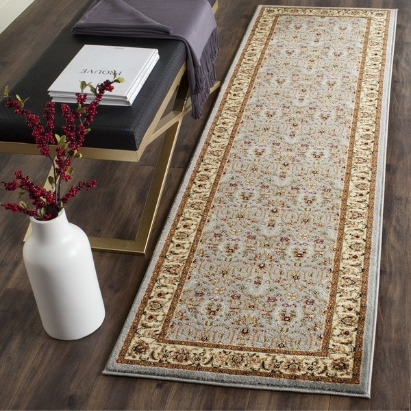 Safavieh Lyndhurst Traditional Oriental Light Blue/ Ivory Runner (2'3 x 14')