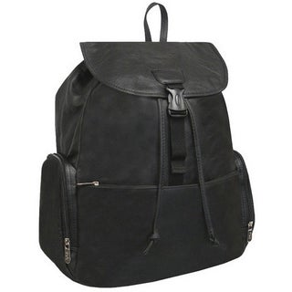 Amerileather Jumbo Leather Backpack with Adjustable Shoulder Straps (2 options available)