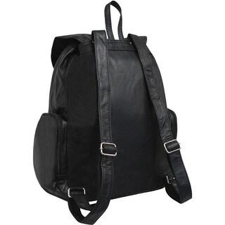 Amerileather Jumbo Leather Backpack with Adjustable Shoulder Straps