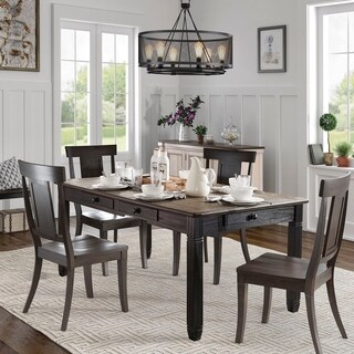 Eleanor Brown and Antique Black Finish 5-piece Dining Set by iNSPIRE Q Classic