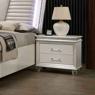 Link to Silver Orchid Butler Transitional Pearl White 2-drawer Nightstand Similar Items in Bedroom Furniture