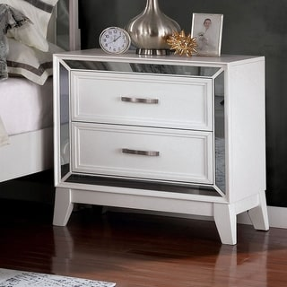 Silver Orchid Arnold Contemporary Nightstand