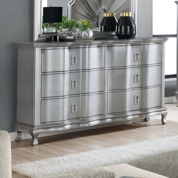Silver Orchid Arlen Transitional Silver 6-drawer Chest