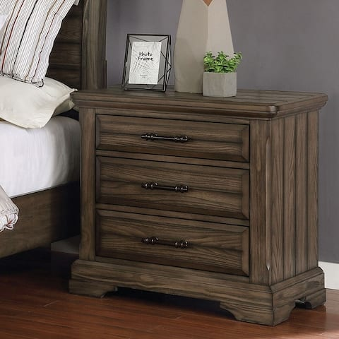The Gray Barn Flying Hooves Light Walnut 3-drawer Nightstand