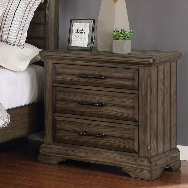 The Gray Barn Flying Hooves Light Walnut 3-drawer Nightstand