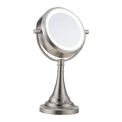 CO-Z 10x/1x Magnification Double-sided LED Lighted Makeup Mirror