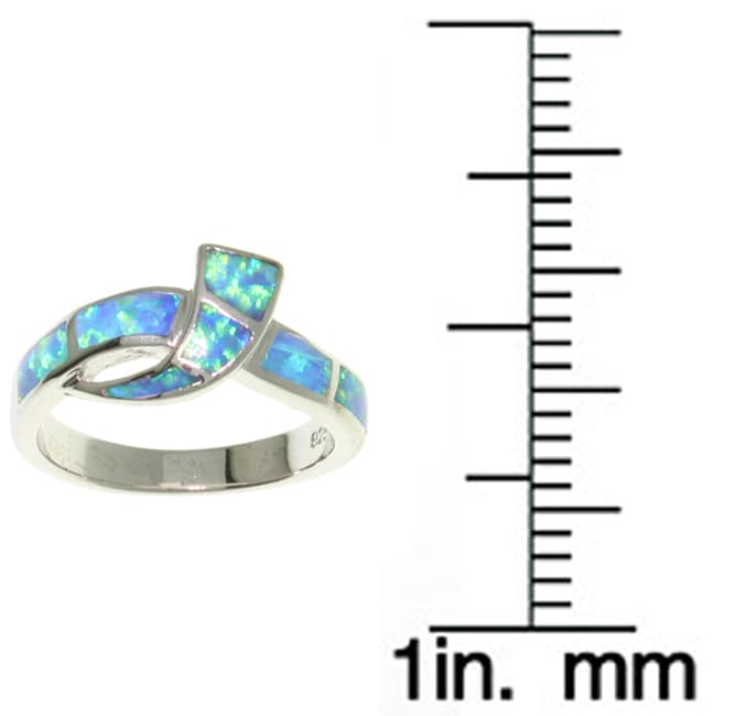 Carolina Glamour Collection Sterling Silver and Created Opal Ring