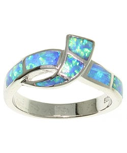 Jewelry Trends Sterling Silver and Created Opal Ring
