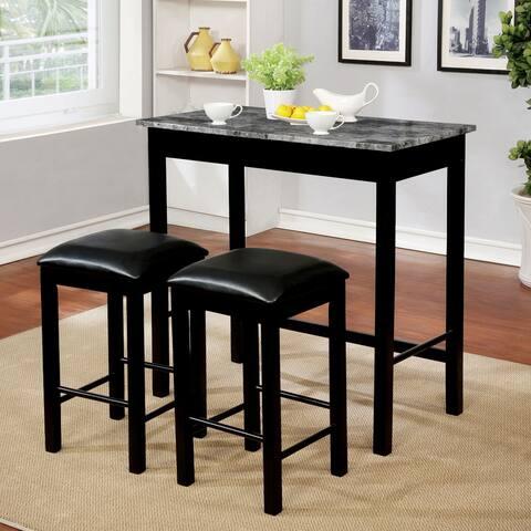 Porch & Den Joseph Black 3-piece Dining Table Set