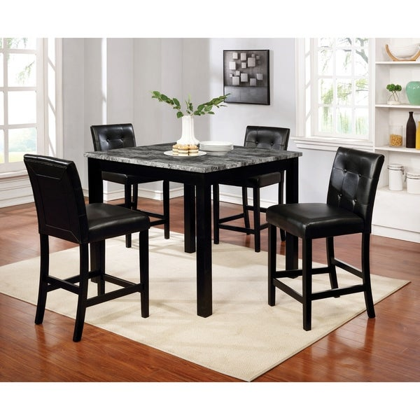 Porch & Den Kattegat Black 5-piece Dining Set