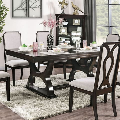 Gracewood Hollow Durgaram Transitional 78-inch Espresso Dining Table