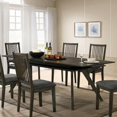 Furniture of America Sahavaara Grey 86-inch Expandable Dining Table