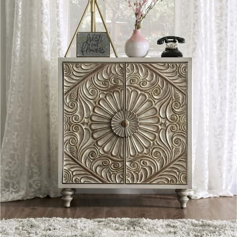 The Curated Nomad Cadogen 32-inch Antique White Wine Cabinet