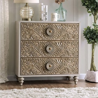 The Curated Nomad Cadogen Traditional Beige 3-drawer Small Chest