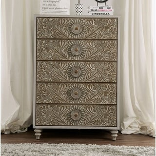 The Curated Nomad Cadogen Traditional Antique White 5-drawer Chest