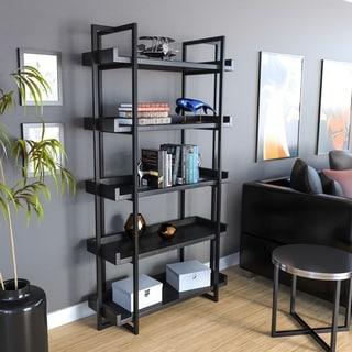 Carbon Loft Ganesh Rustic Black Ladder Shelf