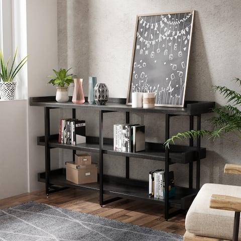 Carbon Loft Bamildel Rustic Black 3-Layer Shelf