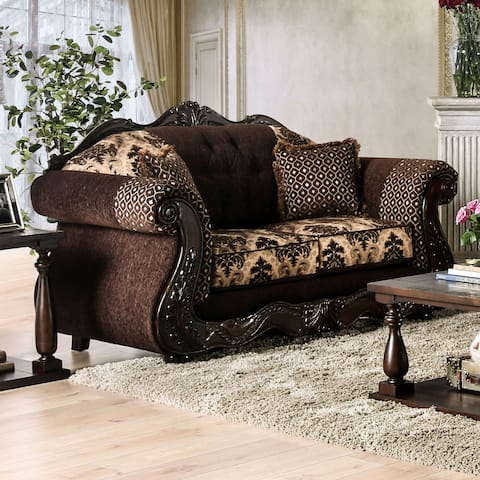 Gracewood Hollow Dayaram Traditional Dark Brown Loveseat