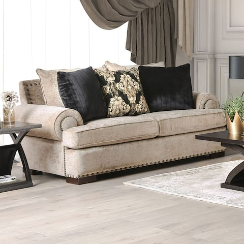 Gracewood Hollow Dolarrai Traditional Beige Loveseat