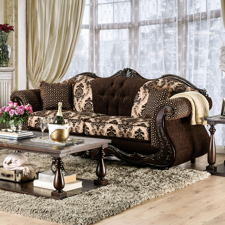 Gracewood Hollow Dayaram Traditional Dark Brown Sofa