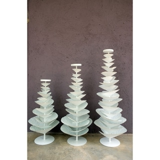 """Handmade 25.5"""" Lily's Living White Iron Tree Candle Holder"""