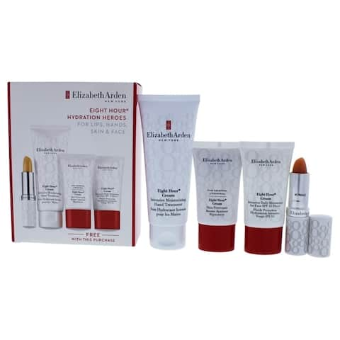Eight Hour Hydration Heroes Set by Elizabeth Arden for Women - 4 Pc Set 2.5oz Intensive Moisturizing
