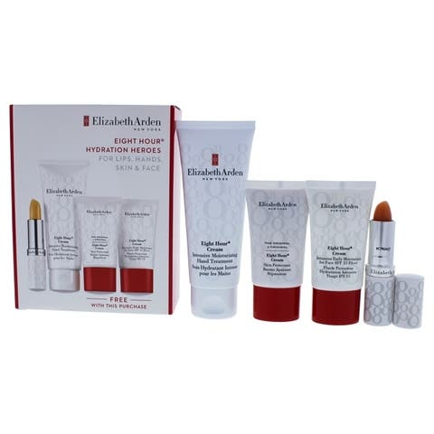 Eight Hour Hydration Heroes Set by Elizabeth Arden for Women - 4 Pc Set 2.5oz