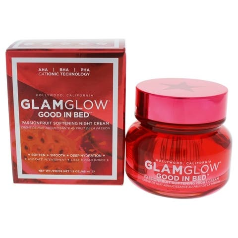 Good in Bed Passionfruit Softening Night Cream by Glamglow for Women - 1.5 oz Cream